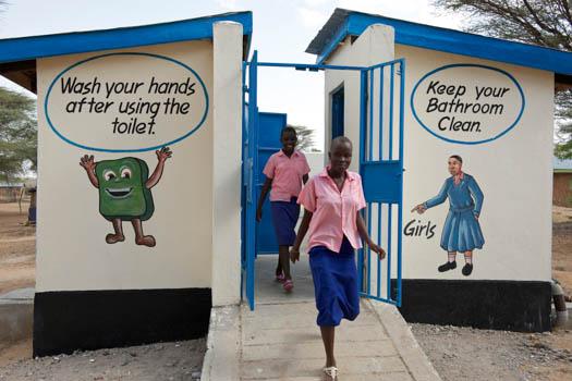 Toaletter med hygienbudskap