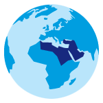 Icon region middle east and north africa
